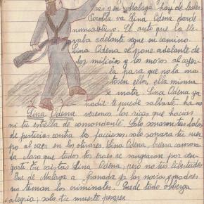 """Redacció d'un alumne de Salt sobre la miliciana Lina Odena, realitzada el 1937 a l'escola situada a l'edifici de les Dominiques, que havia estat confiscat a l'orde religiosa i convertit en escola pública. """"En l'estiu de 1936, la figura heroica de la miliciana es va convertir ràpidament en el símbol de la mobilització del poble contra el feixisme. Dones com la jove activista comunista Lina Odena van personificar la resistència antifeixista en les llegendes de la guerra. Odena era una destacada dirigent de les Joventuts Socialistes Unificades (JSU), el moviment juvenil comunista, i secretària general del Comitè Nacional de Dones Antifeixistes. Va lluitar en el sud d'Espanya al començament de la guerra i es va treure la vida al setembre de 1936, quan era a punt de ser capturada pel temible cos nord-africà de tropes mores de Franco, en el front de Granada. El seu dramàtic suïcidi es va presentar habitualment com a mort en acció i fou constantment evocada com l'arquetip de l'heroisme femení."""" Mary Nash. Rojas. Las mujeres republicanas en la Guerra Civil. Taurus, 2006"""